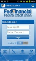Screenshot of FedFinancial Mobile Banking