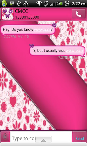 GO SMS THEME PinkPurple
