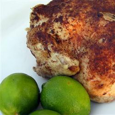 Spiced Caribbean roast chicken