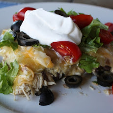 Chicken and Black Bean Enchiladas with Green Chile Sauce