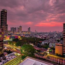 by Fe Photowork - City,  Street & Park  Vistas ( cityscapes, sunset, buildings, landscapes )