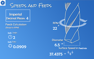 Screenshot of Speeds and Feeds Calculator