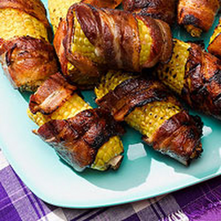Grilled Bacon-Wrapped Corn on the Cob Recipe | Yummly