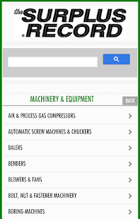 Surplus Record Used Machinery - screenshot