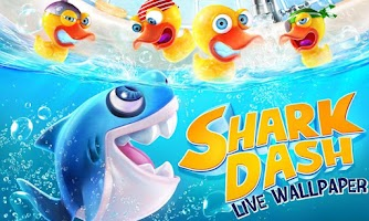 Screenshot of Shark Dash Live Wallpaper
