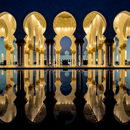 light by Khalil Morcos - Buildings & Architecture Architectural Detail ( reflection, mosque, abu dhabi, architecture, light,  )