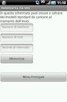 Screenshot of Autoricarica via sms