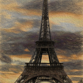 Paris Landmark by Dennis Granzow - Digital Art Places ( digital art, paris france, digital drawing, traditional art, travel )