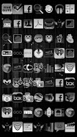 Screenshot of Black & White Icon THEME★PAID★
