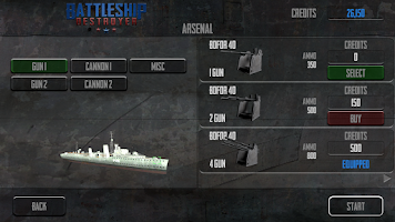 Screenshot of Battleship Destroyer Lite