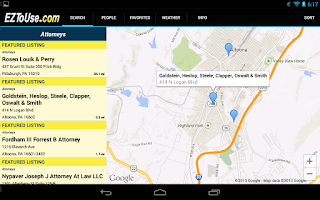 Screenshot of EZToUse.com Yellow Pages