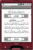 Screenshot of Surah Hafazan for Android