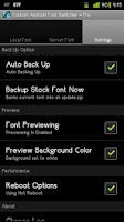 Screenshot of Custom Android Font Switcher