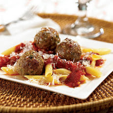Turkey Meatballs with Penne