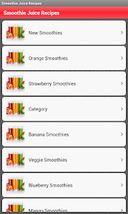 Smoothie and Juice Recipes - screenshot