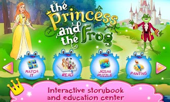Screenshot of Princess & Frog book for kids