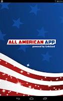 Screenshot of All American App