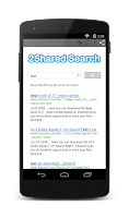 Screenshot of 2Shared Search