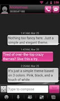 Screenshot of GO SMS THEME - Smooth Pink