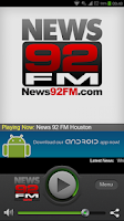 Screenshot of News 92 FM Houston