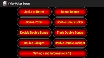Screenshot of Video Poker Expert