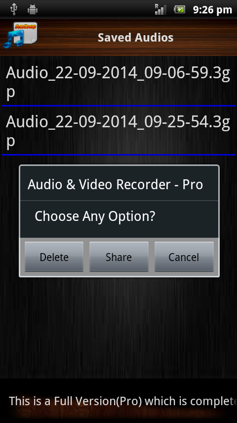 Audio and Video Recorder Pro Screenshot 4