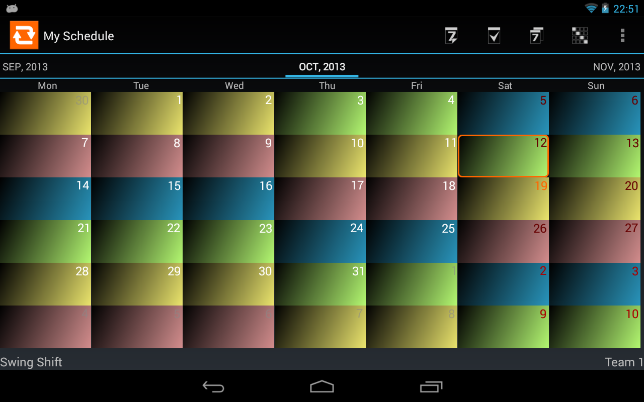 Shift Schedule + Alarm Clock Screenshot 8