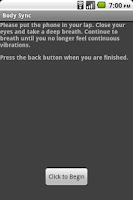 Screenshot of Body Sync