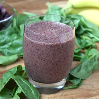 Orange Blueberry Banana Spinach Smoothie