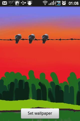 Fleeing Birds