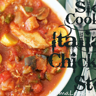 Slow Cooker Italian Chicken Stew.
