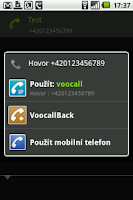 Screenshot of VooCall.cz CSipSimple plugin