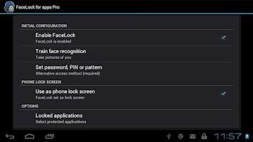 Screenshot of FaceLock Pro