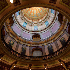 Capital Rotunda by Michael Holser - Buildings & Architecture Architectural Detail ( michigan, rotunda, dome, capital )