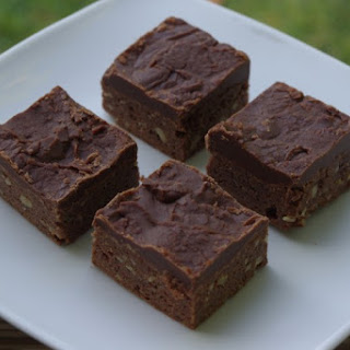 Box Cake Brownies With Fudgy Frosting