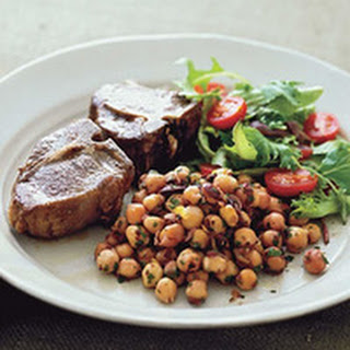 Lamb Chops and Chickpeas