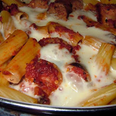 Baked  Ziti With Hot Italian Sausage & Fresh Mozzarella