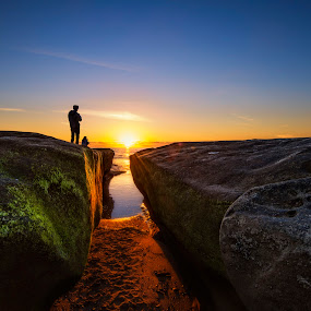Just Another Day by Heather Allen - Landscapes Sunsets & Sunrises ( water, sand, california, cliff, moss, rock, ocean, beach, dusk, people, coastal, coast, sunset, la jolla, , colorful, mood factory, vibrant, happiness, January, moods, emotions, inspiration, Earth, Light, Landscapes, Views, renewal, green, trees, forests, nature, natural, scenic, relaxing, meditation, the mood factory, mood, jade, revive, inspirational, earthly )