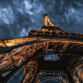 Eiffel Magic by Ajay Kumar - Buildings & Architecture Public & Historical ( paris, eiffel tower, europe, eiffel, night, france, beauty, travel,  )