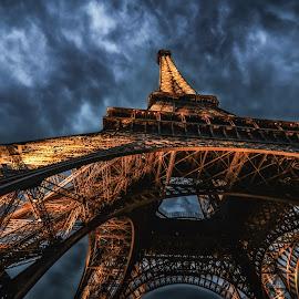 Eiffel Magic by Ajay Kumar - Buildings & Architecture Public & Historical ( paris, eiffel tower, europe, eiffel, night, france, beauty, travel,  )