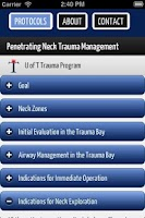 Screenshot of U of T Trauma Protocols
