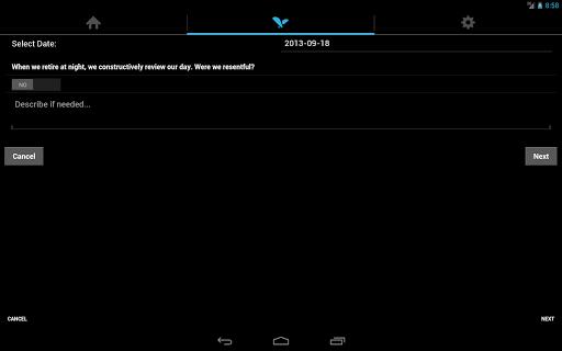 12 Steps Overeaters (OA) Tool - screenshot