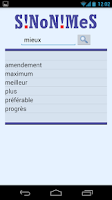 Screenshot of Synonyms in French