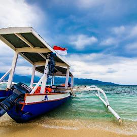 Let's Sailing! by Chin Fei Ng - Transportation Boats ( boats; beach; sea; sand; clouds )