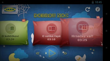 Screenshot of IKEA Dobrou noc