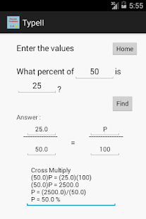 MATH/Percent Problems - screenshot