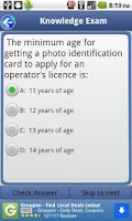 Screenshot of Driver License Test Alberta