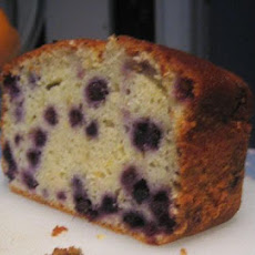 Blueberry Yogurt Cake With Lemon Glaze