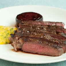 Pan-fried Beef With Baked Beetroot