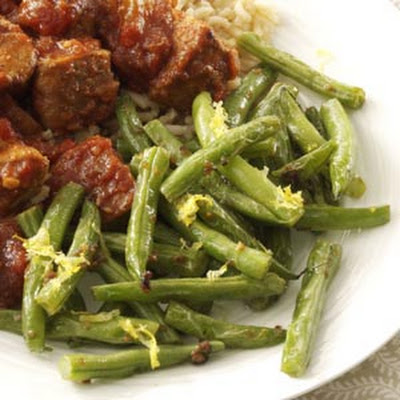 Lemon-Garlic Green Beans